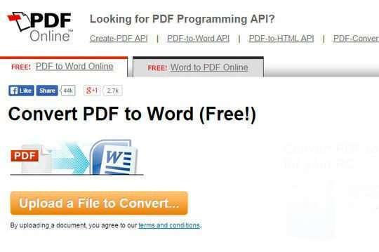 ТОП кращих онлайн конверторів з PDF в Word