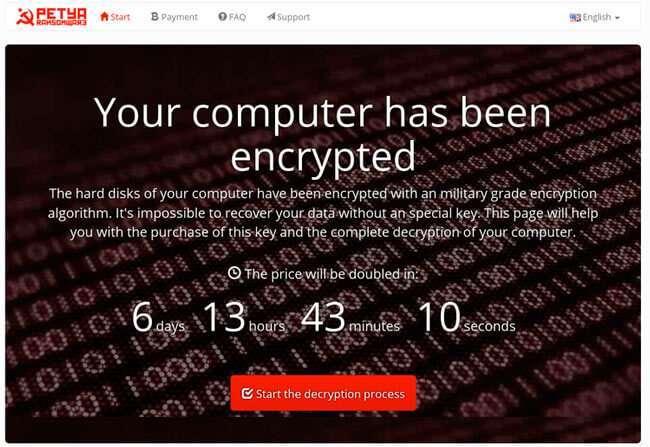 Вірус-шифрувальник Petya стає небезпечніше