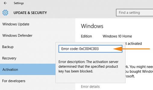 Огляд всіх помилок при активації Windows і методи усунення