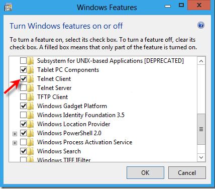 Тонкощі налаштування і установки клієнта Telnet для Windows 10