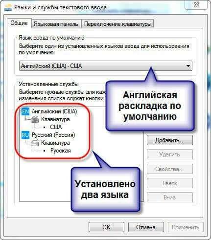 Як відновити значок мови в панелі завдань Windows 7